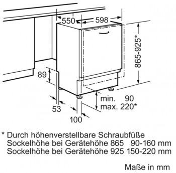 Siemens Großraum-Geschirrspüler speedMatic SX658X06TE