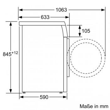 Siemens Waschmaschine unterbaufähig Frontlader 8kg 1400U/min. WU14UT20