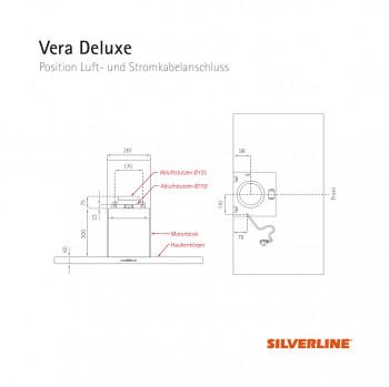 Silverline Wandhaube Vera Deluxe 80 cm Edelstahl VEBW 810 EA