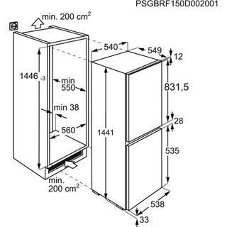 Zanussi Einbau Kühl-/Gefrier-Kombination ZNLN14FS