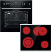 Gorenje Backofen-Set Black Set III best. aus: BC 737 E28BG + ECD 634 X
