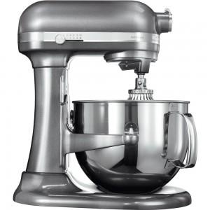 KitchenAid Artisan Küchenmaschine mit Schüsselheber Medaillon-Silber 5KSM7580XEMS