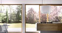 Berbel Deckenlifthaube Skyline Round BDL 60 SKR Glas weiss 60 cm ohne Liftfunktion 1005504 5 Jahre Garantie