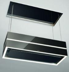 Berbel Deckenanschluss mit Glasverkleidung BDL 115 schwarz für Skyline und SkylineEdge