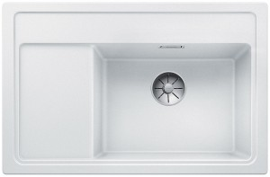 Blanco Granitspüle ZENAR XL 6 S Compact Becken rechts weiß 523758 mit Glas-Schneidbrett