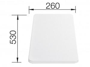 Blanco Schneidbrett Kunststoff weiß 217611