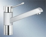 Blancozenos SILGRANIT-Look silgranitweiß/chrom  HD 517808