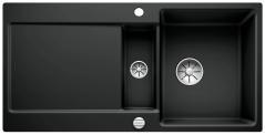 Blanco Spüle IDENTO 6 S-F Keramik PuraPlus® reversibel schwarz 522276