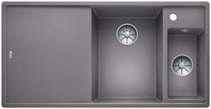 Blanco Silgranitspüle PuraDur® AXIA III 6 S-F Becken rechts alumetallic 523491