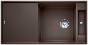 Blanco Silgranitspüle PuraDur® AXIA III XL 6 S-F reversibel cafe 523525