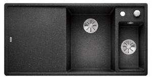 BLANCO Granitspüle AXIA III 6 S SILGRANIT® PuraDur® mit Glasschneidbrett Becken links anthrazit 524653