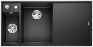 BLANCO Granitspüle AXIA III 6 S-F SILGRANIT® PuraDur® mit Holzschneidbrett Becken links anthrazit 524663