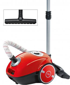 Bosch MoveOn Bodenstaubsauger mit Staubbeutel  flaming red BGL35MON13