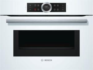 Bosch Kompaktdampfbackofen mit Mikrowelle 45cm Polar Weiß CMG633BW1