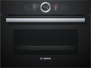 Bosch Kompaktdampfbackofen 45cm Vulkan Schwarz CSG656RB6