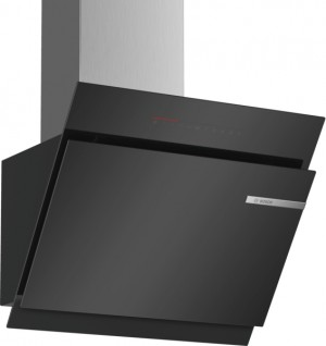 Bosch Wandesse 60cm schwarz Schräg-Essen-Design DWK67JQ60