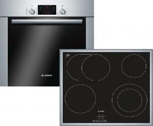 Bosch Herdset HBD42CS50 bestehend aus:HBA34U250, PKN645D17