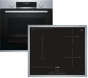 Bosch Backofenset HBD616LS61 best. aus: HBA517BS0 + PVS645FB5E