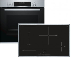Bosch Backofenset HBD616LS81 best. aus: HBA517BS0 + PVS845FB5E