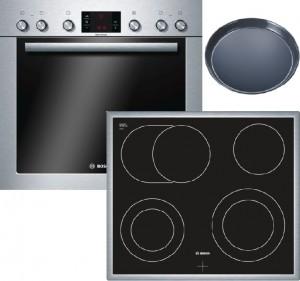 Bosch Herdset HND43MS50 best. HEG33U350 + NKH645G17M + HEZ317000
