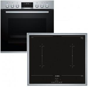 Bosch Herdset HND657LS60 best aus: HEA5574S1 + NVQ645CB5E