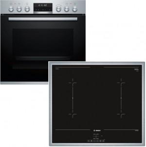 Bosch Herdset HND677LS60 best aus: HEA5784S1 + NVQ645CB5E