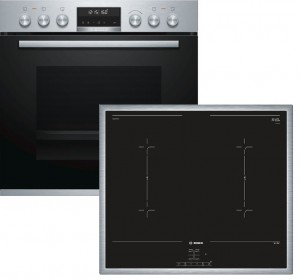 Bosch Herdset HND677LS65 best aus: HEB578BS1 + NVQ645CB5E