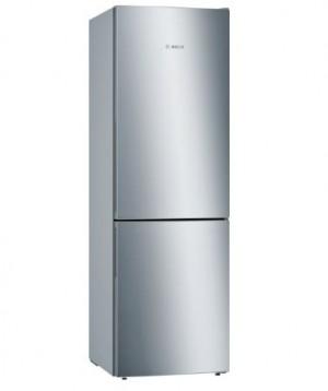 Bosch Freistehende Kühl-Gefrier-Kombination mit Gefrierbereich unten, Edelstahl (mit Antifingerprint) KGE49VI4A