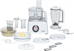 Bosch Kompakt Küchenmaschine Styline Gehäusefarbe weiß/silber  MCM4200