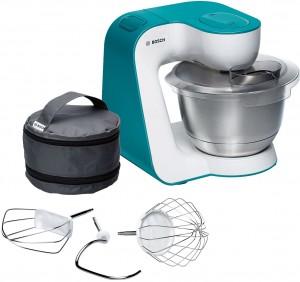 Bosch Küchenmaschine StartLine Gehäusefarbe weiß / dynamic blue MUM54D00