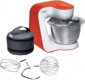 Bosch Küchenmaschine StartLine Gehäusefarbe weiß / impulsive orange MUM54I00