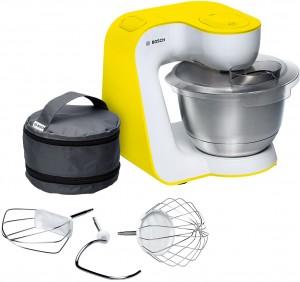 Bosch Küchenmaschine StartLine Gehäusefarbe weiß / intensive yellow MUM54Y00