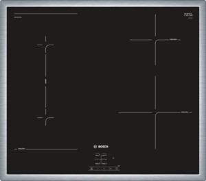Bosch Induktions-Kochfeld Glaskeramik Edelstahl NWP645CB2E