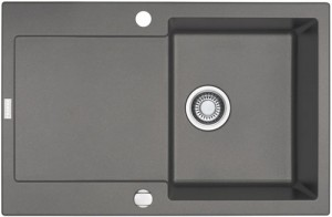 FRANKE Spüle MRG 611 steingrau + Siebkorb 114.0055.695