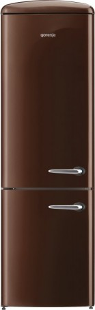 B-Ware Gorenje Stand-Kühl-/Gefrier-Kombination Links Chocolate ORK193CHL