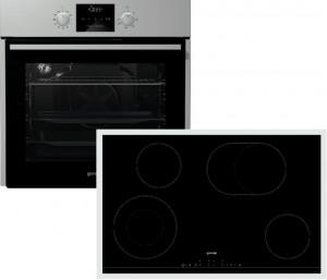 Gorenje Backofen-Set Black Pepper C06N: BO637E13X + ECT843BX