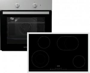 Gorenje Backofen-Set Black Pepper X06N: BCS798S24X + ECT843BX