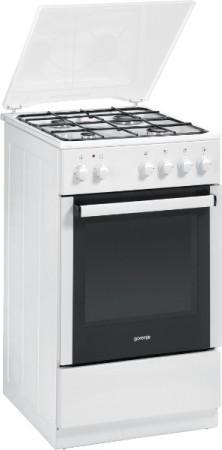Gorenje Kombi-Gas-Elektroherd weiß K51101AW EEK: A