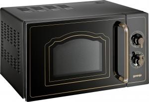 Gorenje Stand-Mikrowelle mit Grill Knebel schwarz MO4250CLB