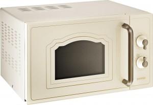 Gorenje Stand-Mikrowelle mit Grill Knebel elfenbein MO4250CLI