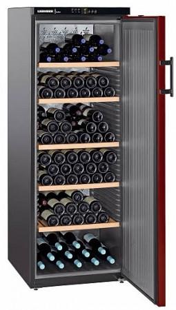 Liebherr Weintemperierschrank Vinothek, Schwarz/Bordeauxrot WTr 4211-20 EEK: A