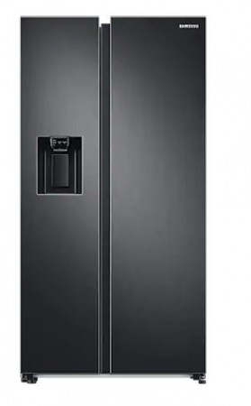 Samsung Side by Side Kühlschrank Premium Black Steel RS6GA8842B1/EG