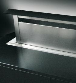 Mainau Downdraft Edelstahl / Glas schwarz 60 cm Motor Extern