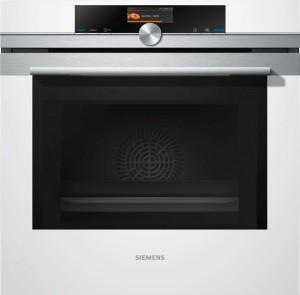 Siemens Einbaubackofen mit Mikrowelle Weiß HM676G0W1