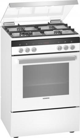 Siemens Mixed cooker Standherd mit Gas-Kochfeld weiß HX9R3AI20