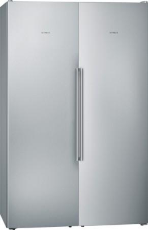 Siemens Set aus Eintür-Kühlschrank und Eintür-Gefrierschrank GS36NAIDP + KS36FPIDP + KS39ZAL00