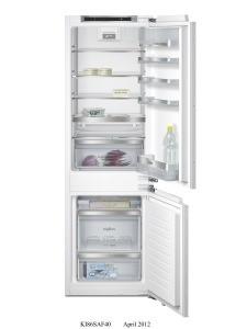 Siemens KI86SAD40 Einbau-Kühl-Gefrier-Kombination Flachscharnier-Technik, softEinzug mit Türdämpfung EEK: A+++