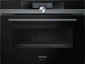 Siemens StudioLine iQ700 Mikrowellen-Backofen mit Dampfunterstützung schwarz CN878G4B6