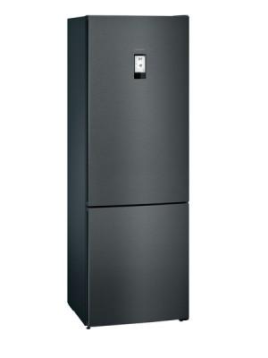 Siemens Kühl-/Gefrier-Kombination blackSteel KG49NAXDP