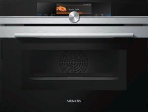Siemens Kompaktbackofen mit Mikrowelle, Edelstahl CM678G4S1